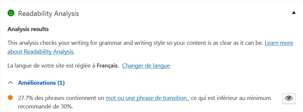 mots de transition de Yoast SEO Pierre Becker